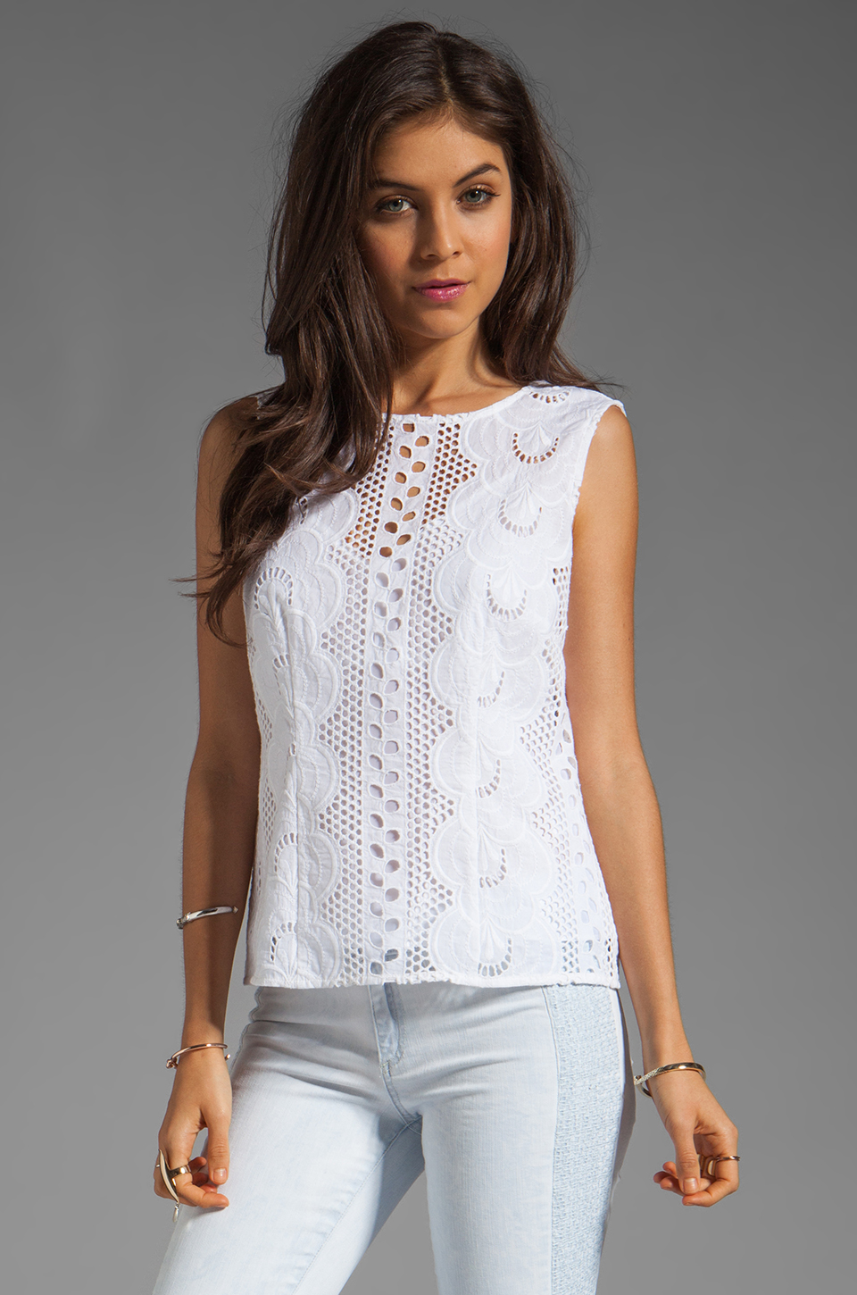 Nanette Lepore Tranquil Top in White