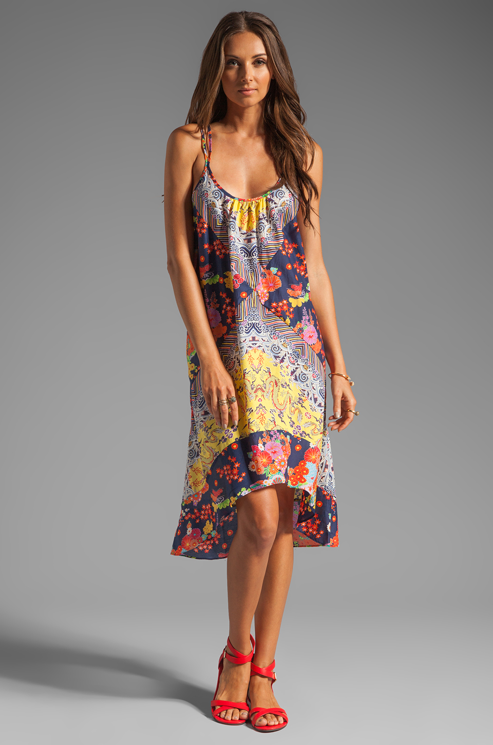 Nanette Lepore Tatsuyama Cover Dress in Multi