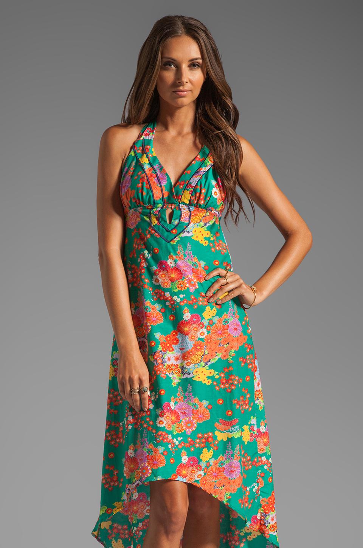 Nanette Lepore Kimono Floral Maxi Cover in Jade