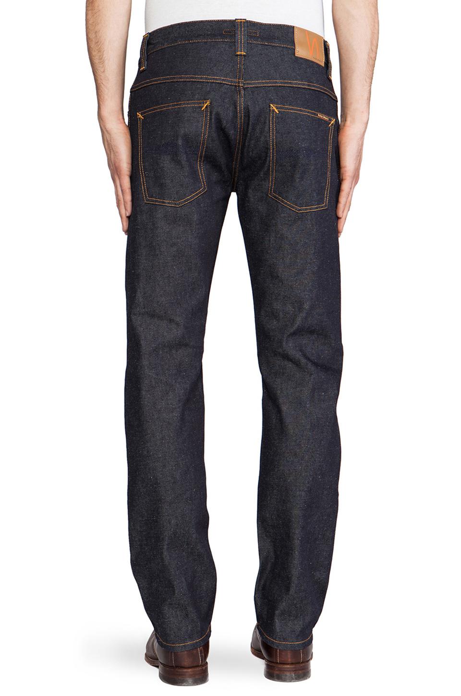 Nudie Jeans Hank Rey in Organic Dry Deep Indigo
