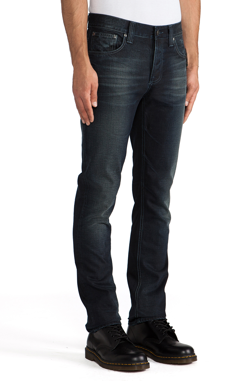 Nudie Jeans Grim Tim in Org. Black Indigo