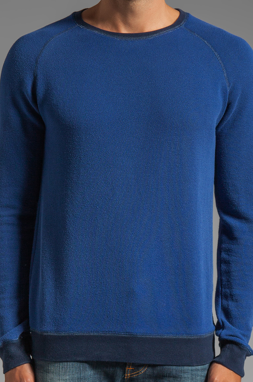 Nudie Jeans Herald Raglan Sweatshirt in Deep Ocean