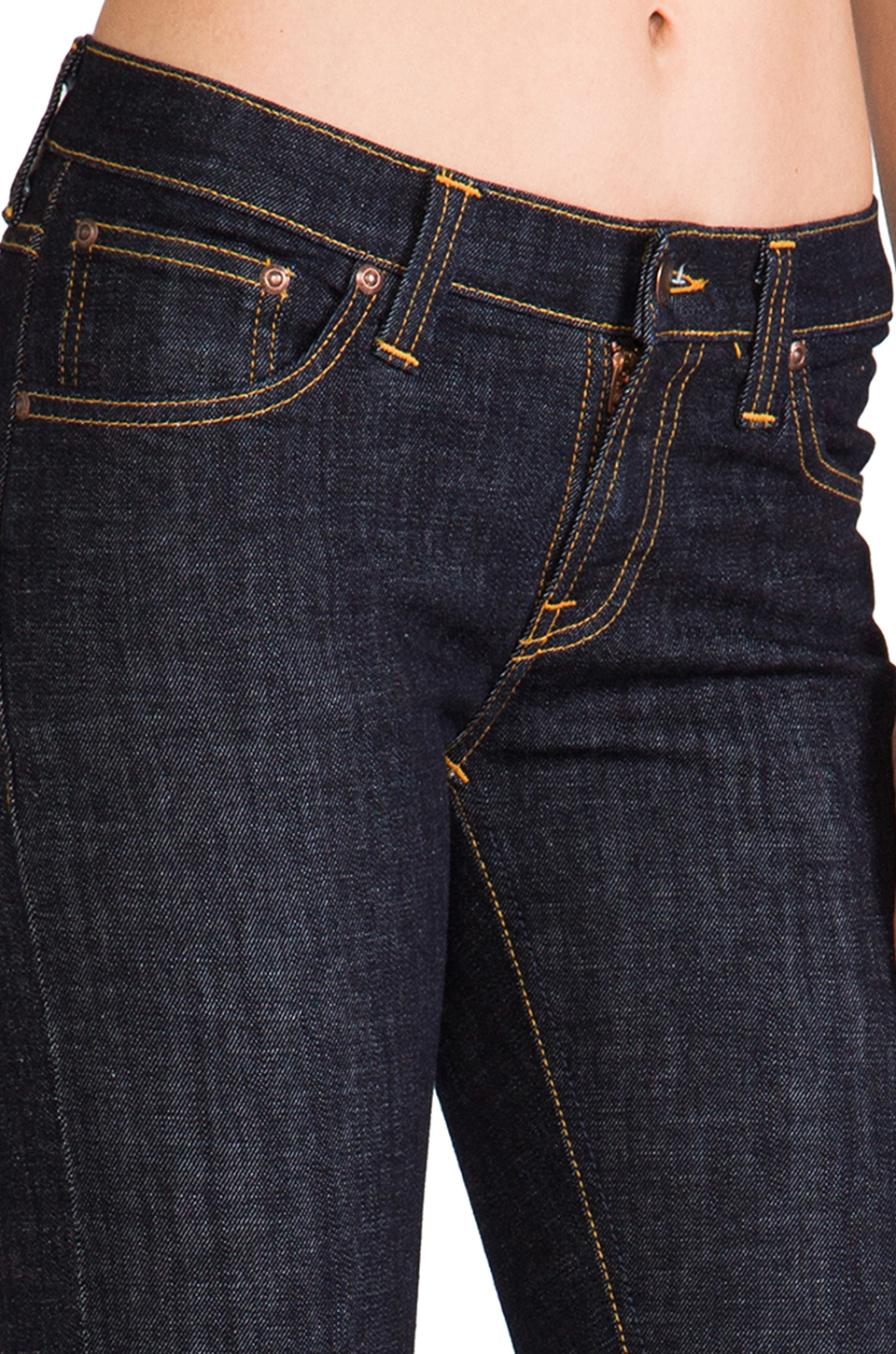 Nudie Jeans Tight Long John Skinny in Twill Rinsed