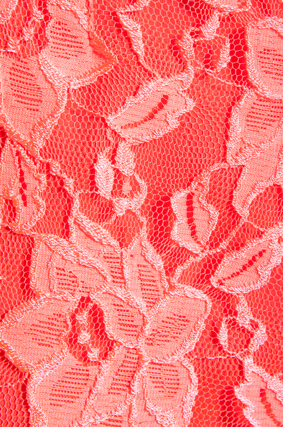 Naven Hot Shorts in Neon Salmon Lace