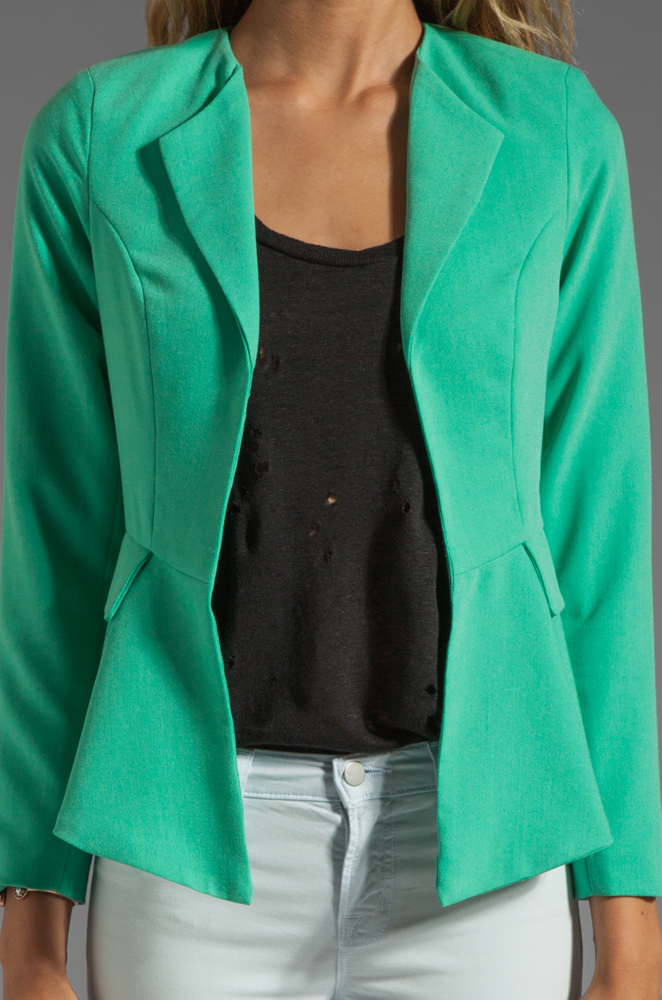 Naven Bardot Blazer in Spearmint