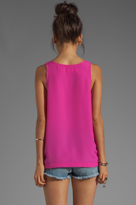 Naven Long Muscle Tank in Pop Pink