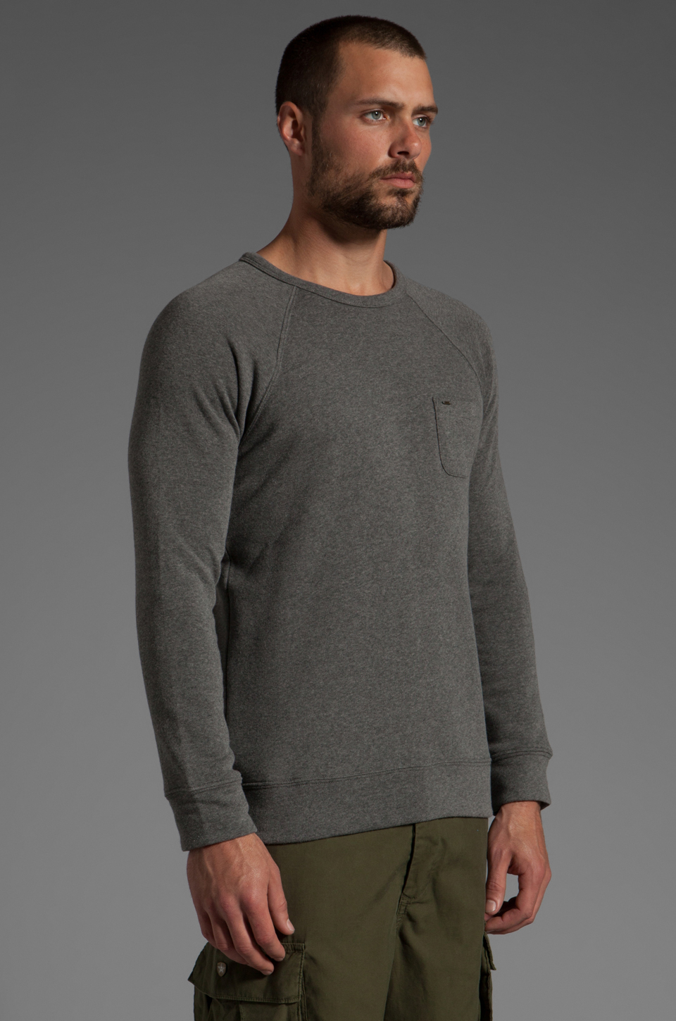 Obey Lofty Creature Comforts Crew in Heather Grey