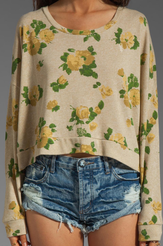 Obey Mellow Mood Dolman Sweatshirt in Cream