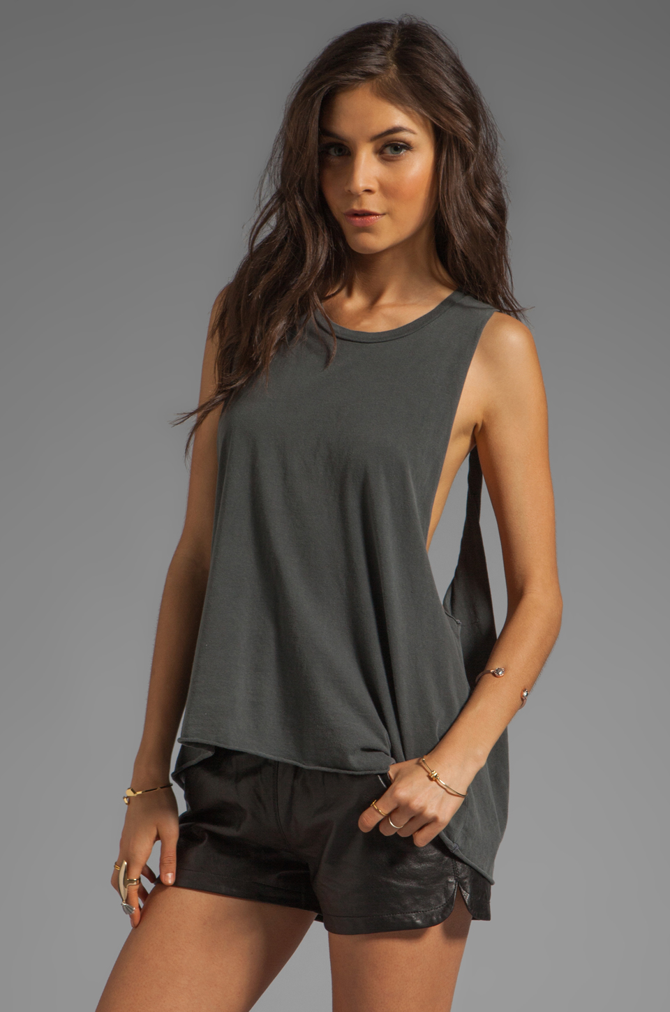 Obey Rider Tank in Graphite