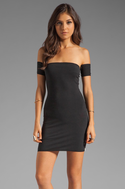 One Teaspoon Holster Off Shoulder Body Con Dress in Black