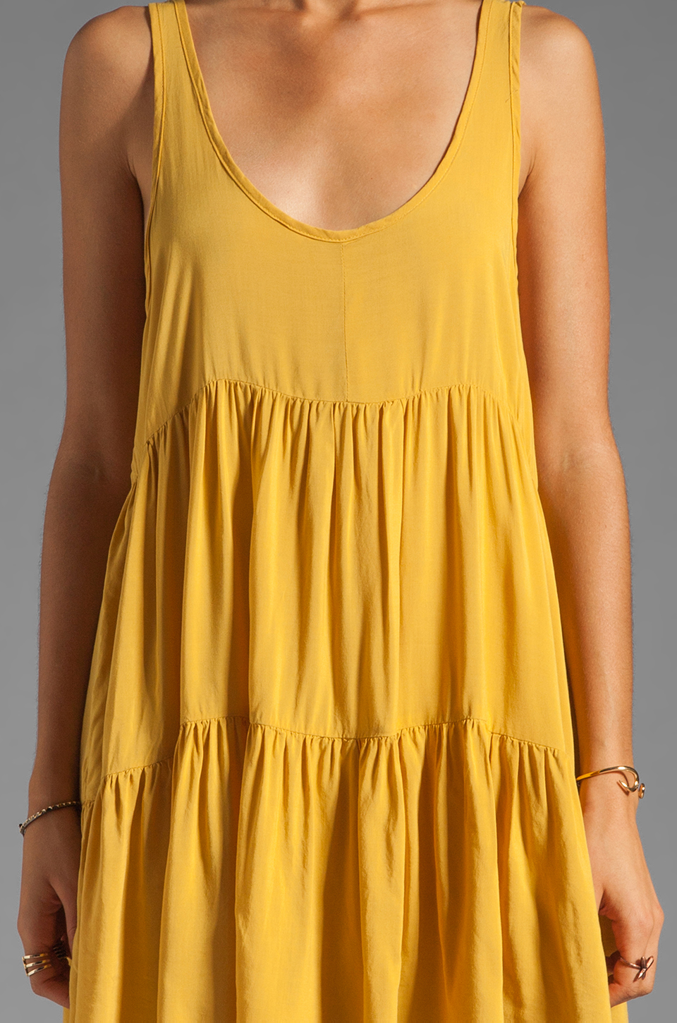 One Teaspoon Two Hearts Tank Dress in Mustard