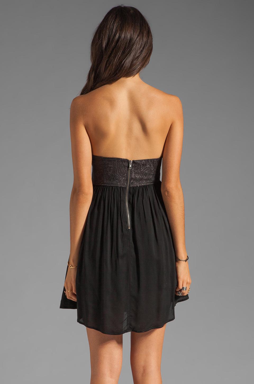One Teaspoon Nickels and Dimes Sequin Bustier Mini Dress in Black