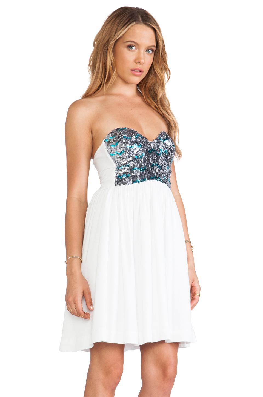 One Teaspoon Bubble Pop Electric Dress in White