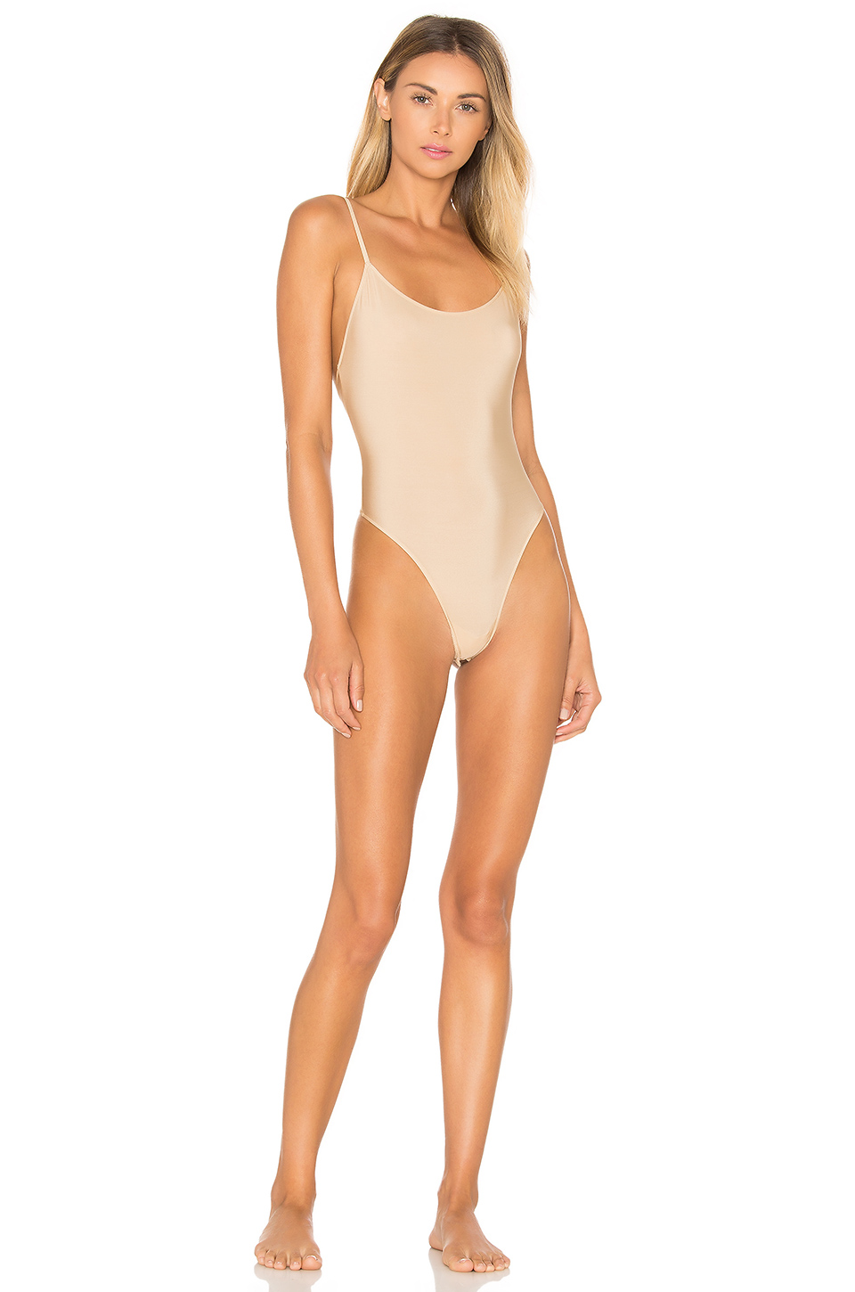 Only Hearts Second Skins New Lowback Bodysuit in Nude