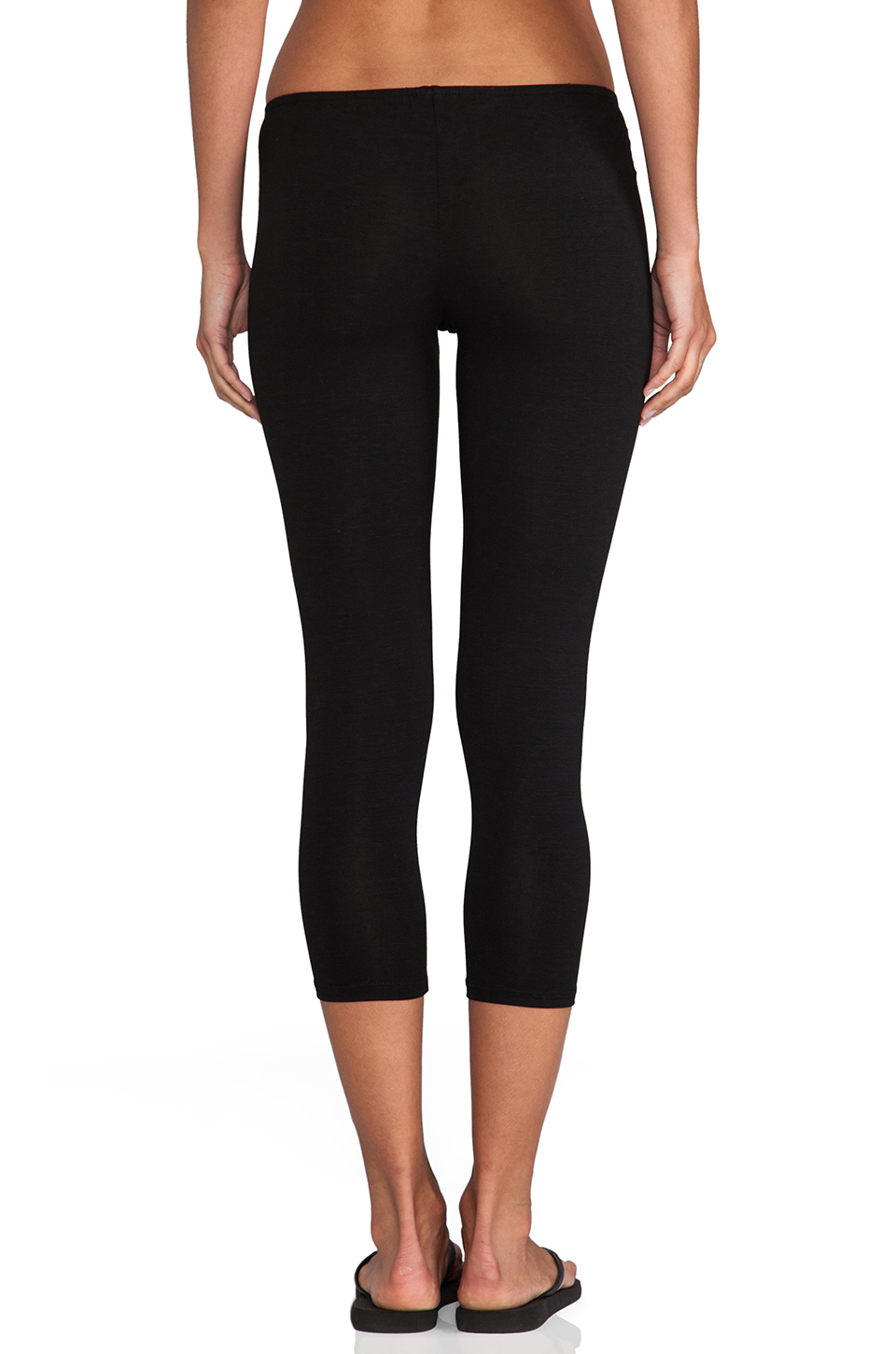 Only Hearts Cropped Legging in Black