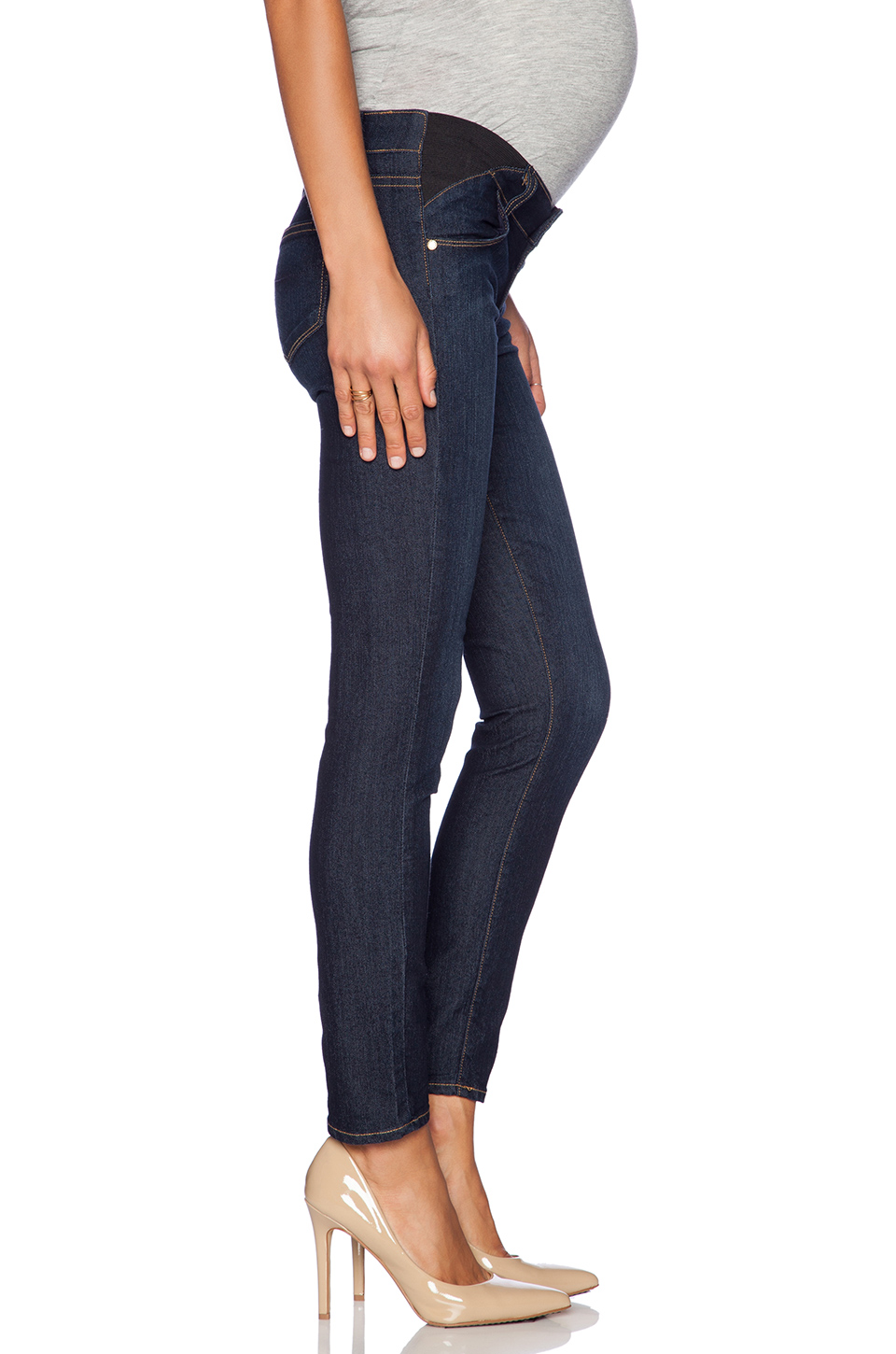 Paige Denim Skyline Ankle Peg Maternity in Carson