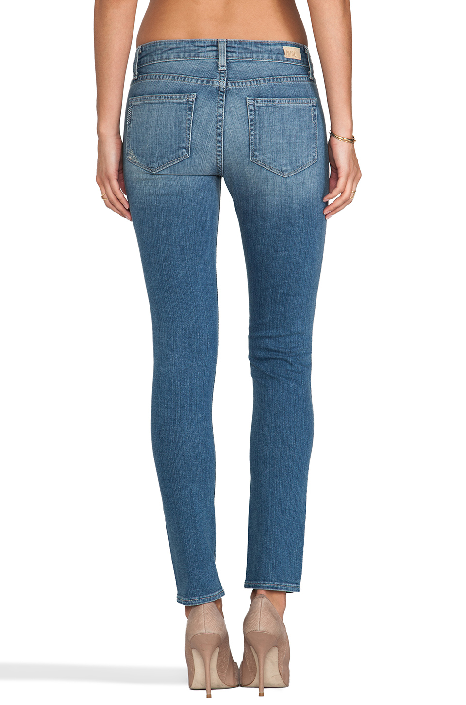 Paige Denim Skyline Ankle Peg in Sadie