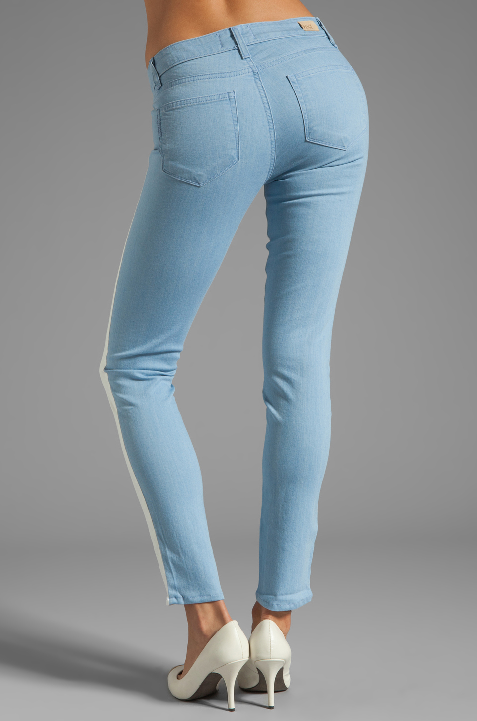 Paige Denim Emily Ultra Skinny in Cloud/White