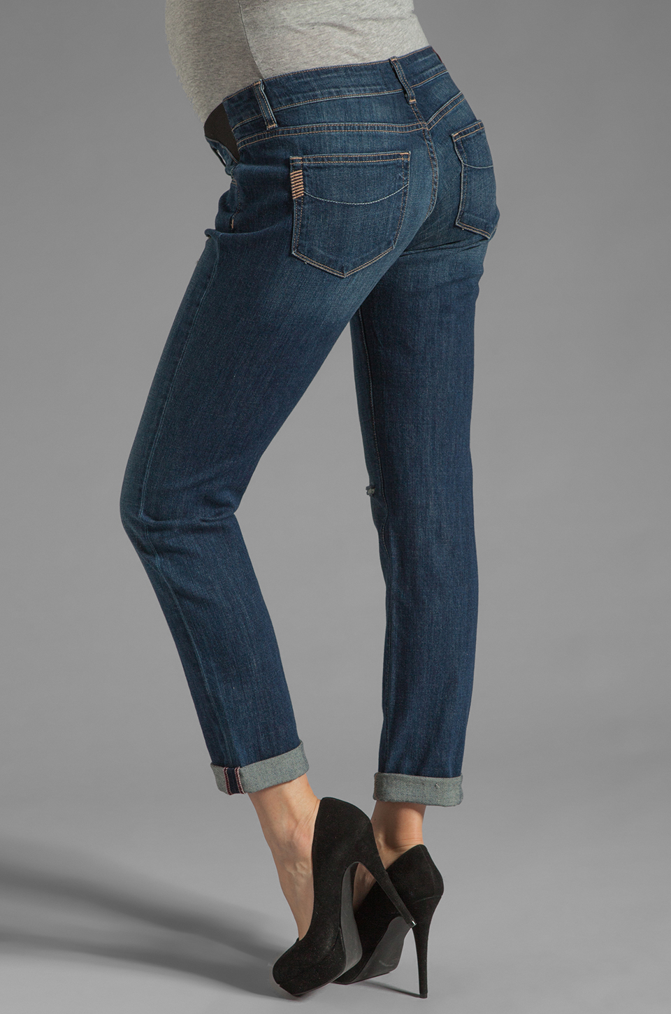 Paige Denim Jimmy Jimmy Skinny Maternity in Tawni Destruction