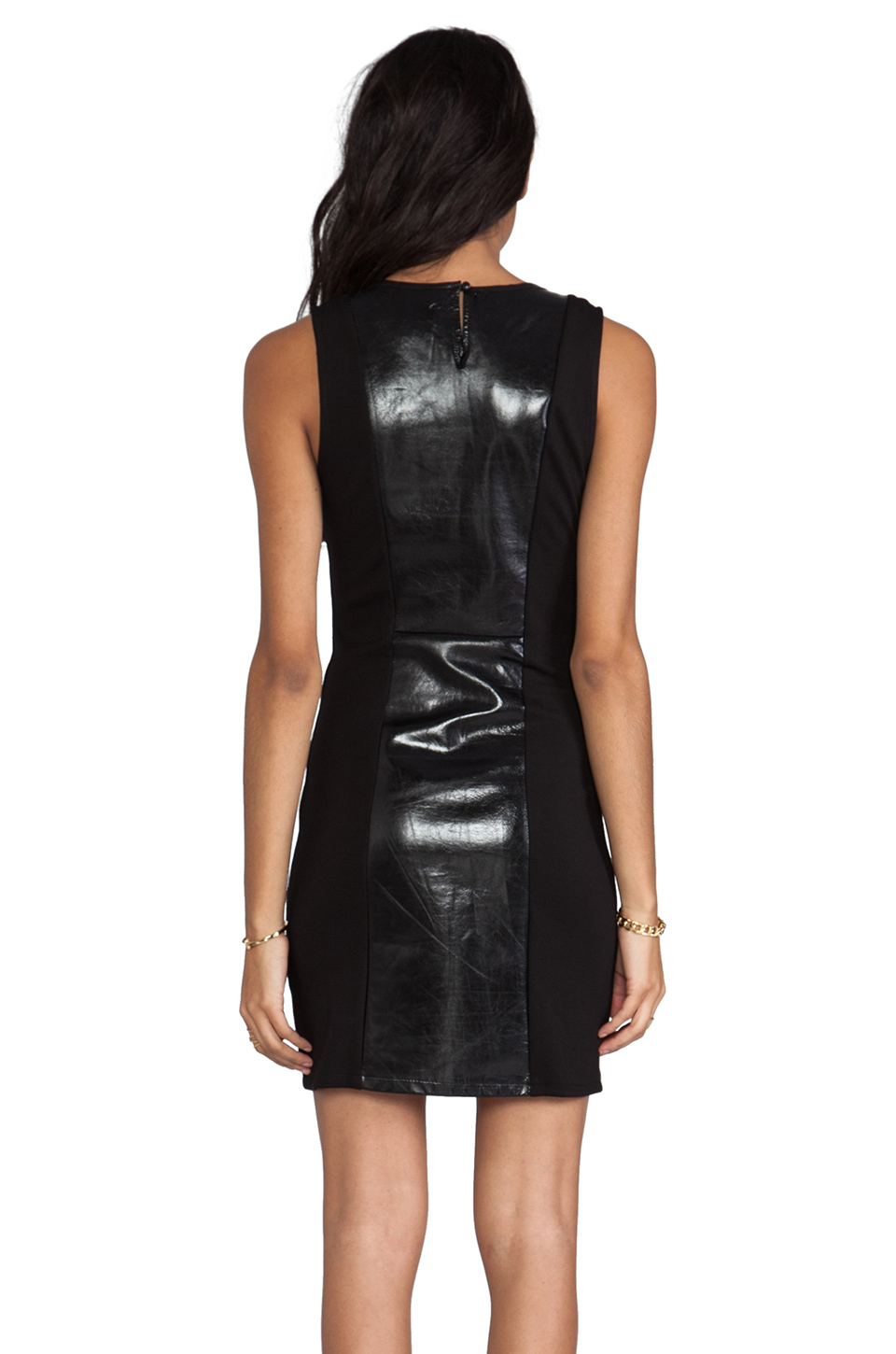 PJK Patterson J. Kincaid Pipper Dress in Metallic Black