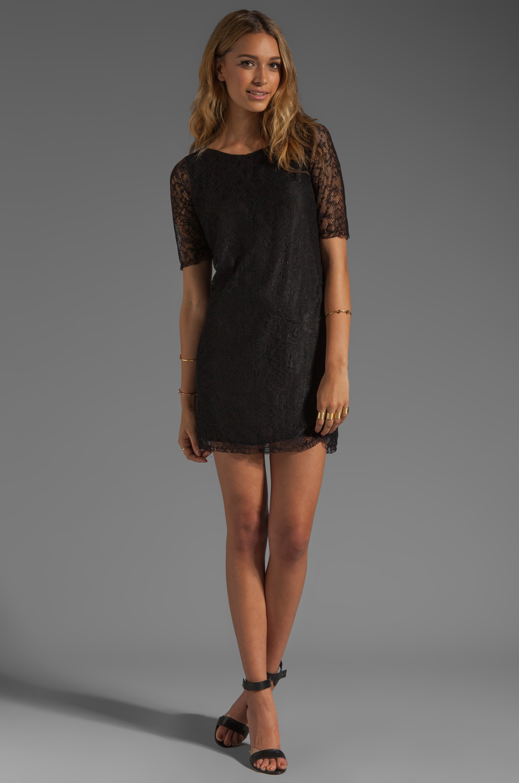 PJK Patterson J. Kincaid Nicole Lace Shift Dress in Black