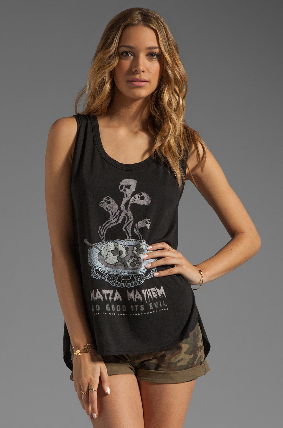 PJK Patterson J. Kincaid x the man repeller Matza Mayhem Tank in Black