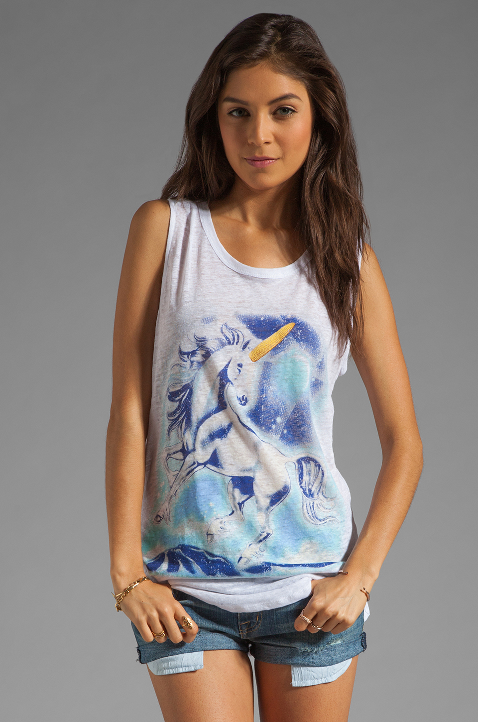 PJK Patterson J. Kincaid x the man repeller George Unicorn Tank in White