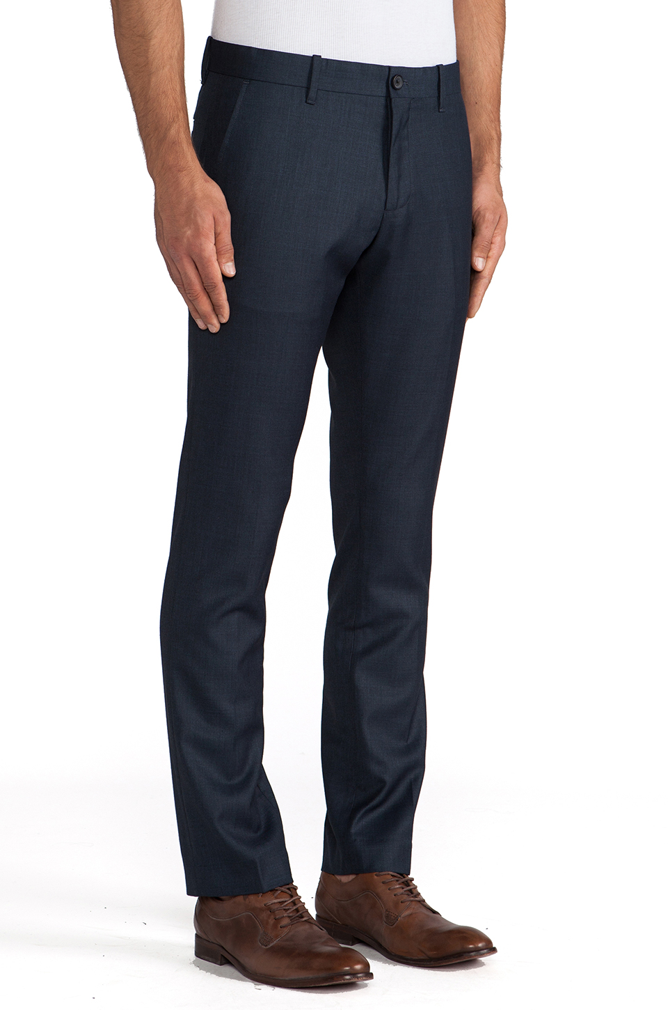 Penguin Heather Tailored Pant in Blue Teal