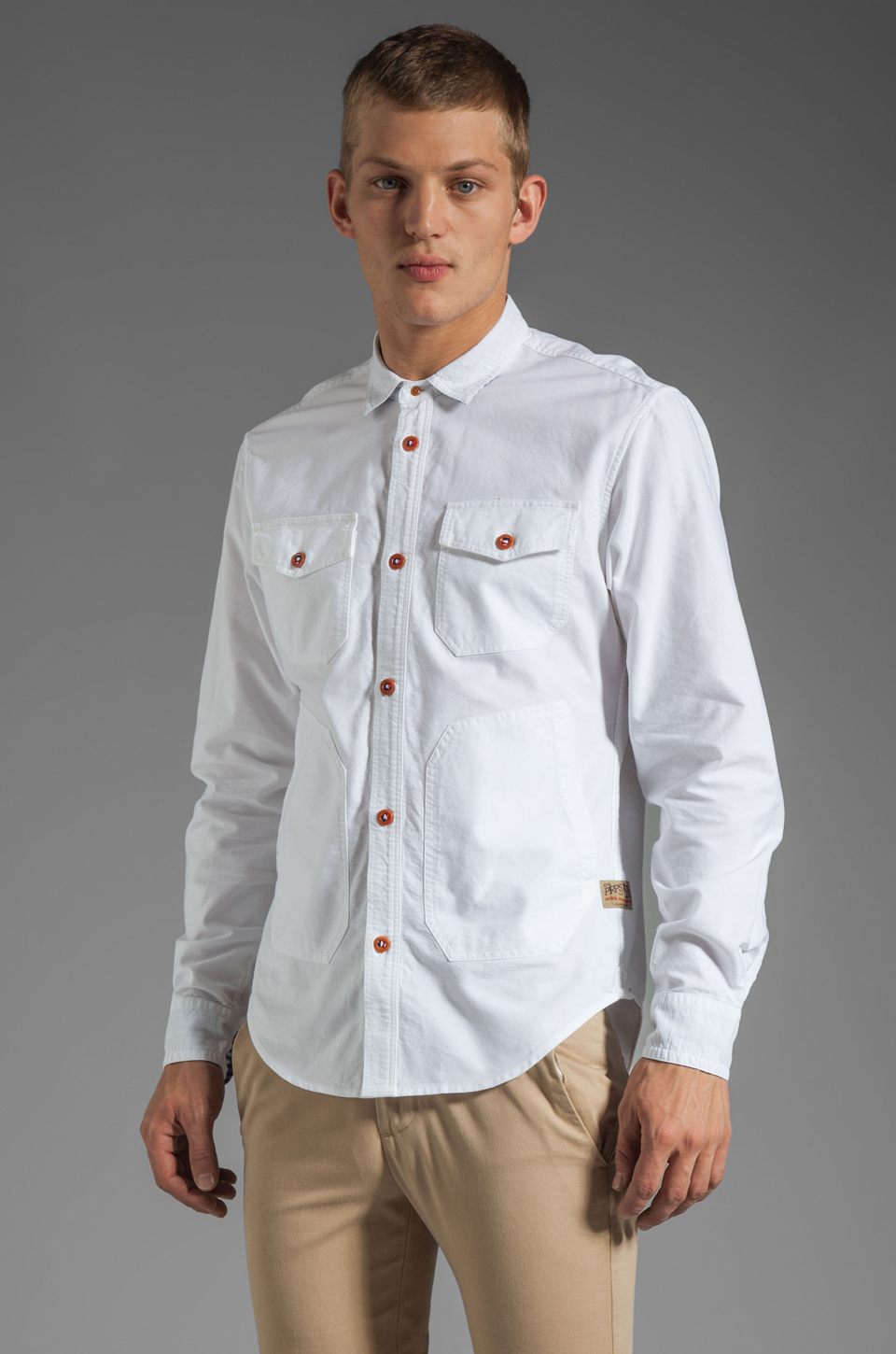 PRPS Goods & Co. Oxford Shirt in White