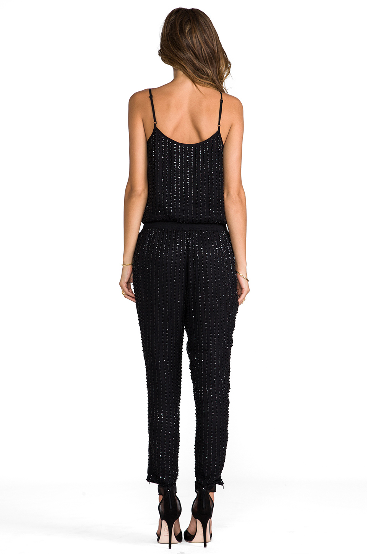 Parker Autumn Sequin Jumpsuit in Black