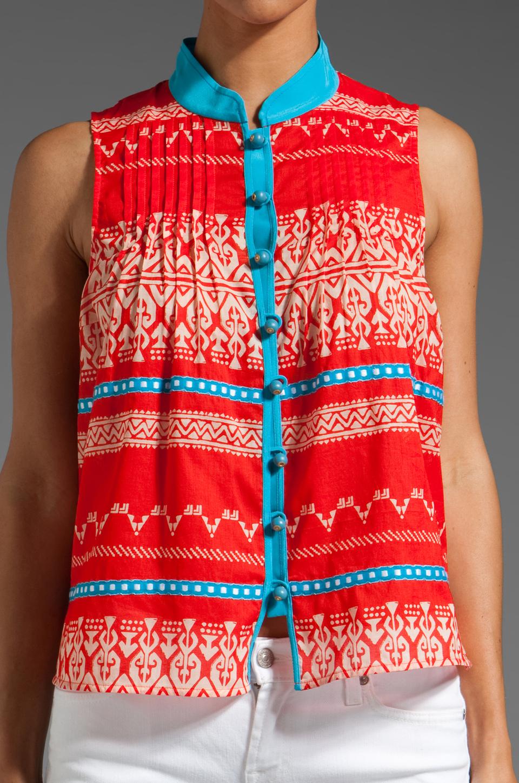 Plenty by Tracy Reese Sleeveless Shirt in Fiesta/Apricot