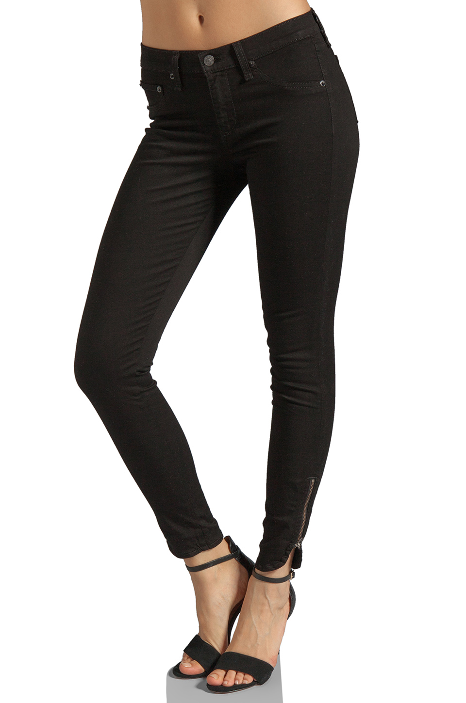 rag & bone/JEAN Macarthur Skinny in Black
