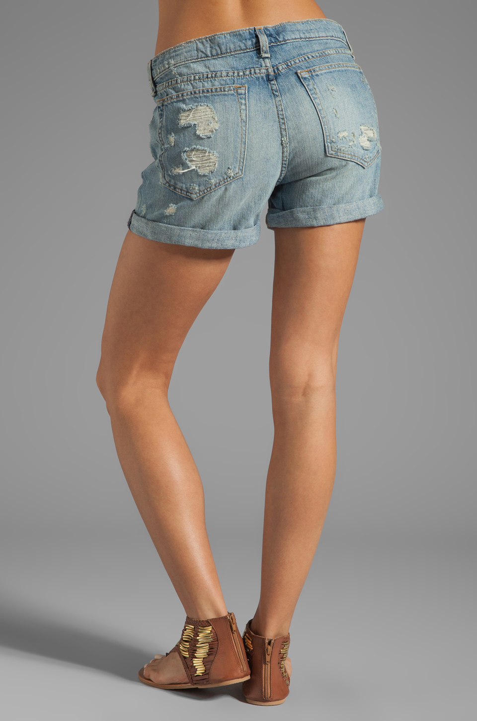 rag & bone/JEAN Boyfriend Short in Tattered