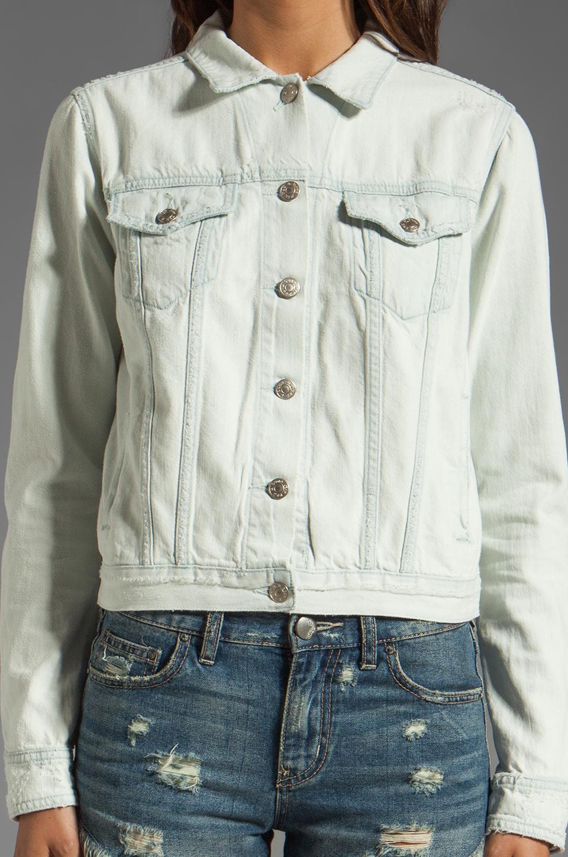 rag & bone/JEAN Jacket in Destroyed Bleach
