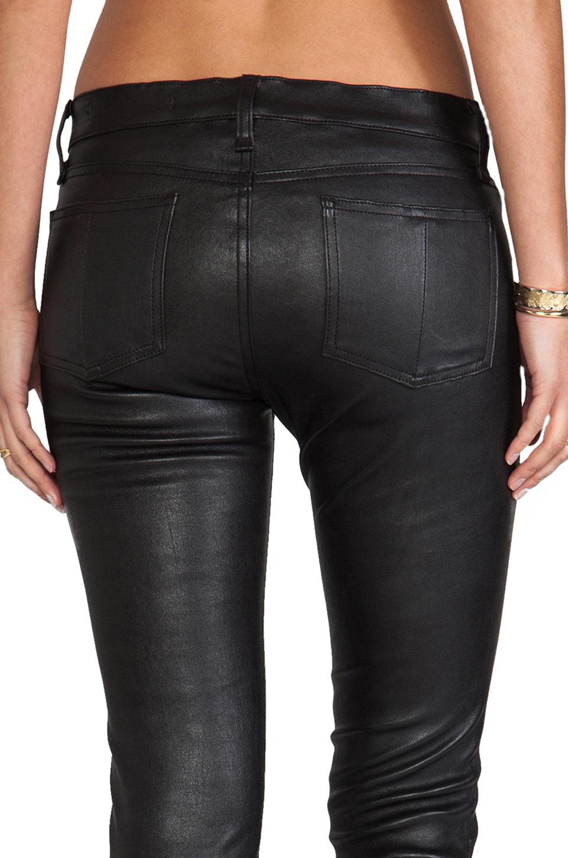 rag & bone/JEAN The Leather Skinny in Black