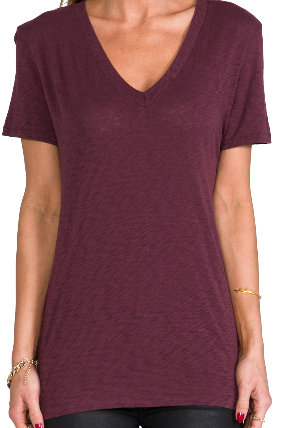 rag & bone/JEAN The Jackson V Tee in Port