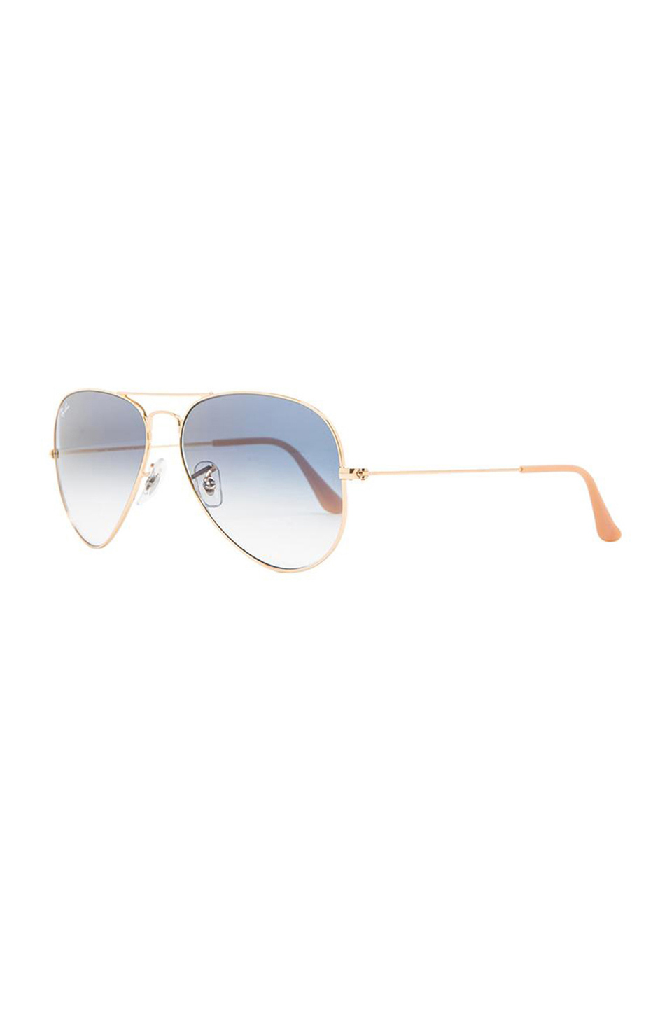 Ray-Ban Large Metal Aviator in Arista/Gradient Light Blue