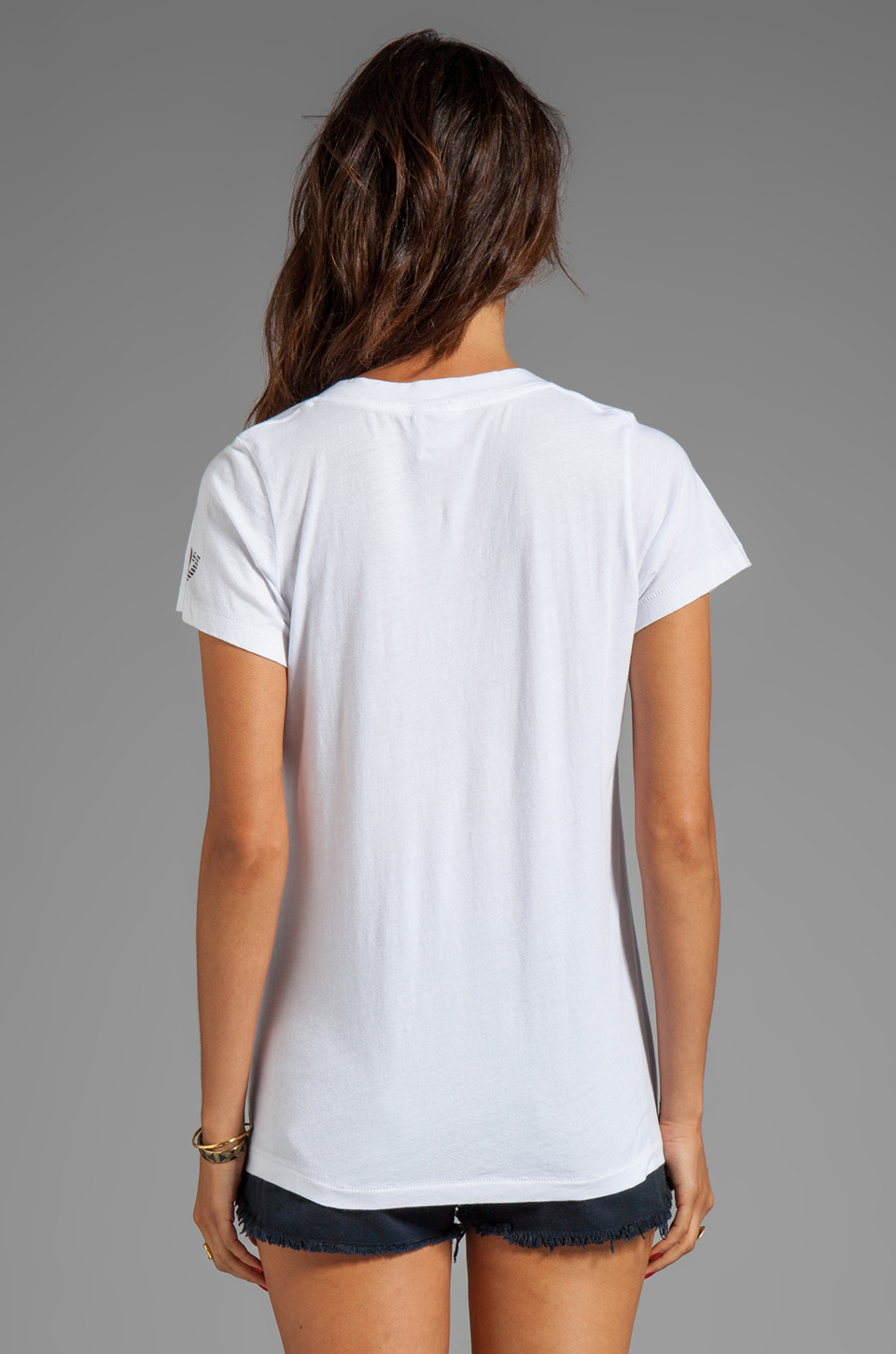 Rebel Yell Say No Classics V Tee in White