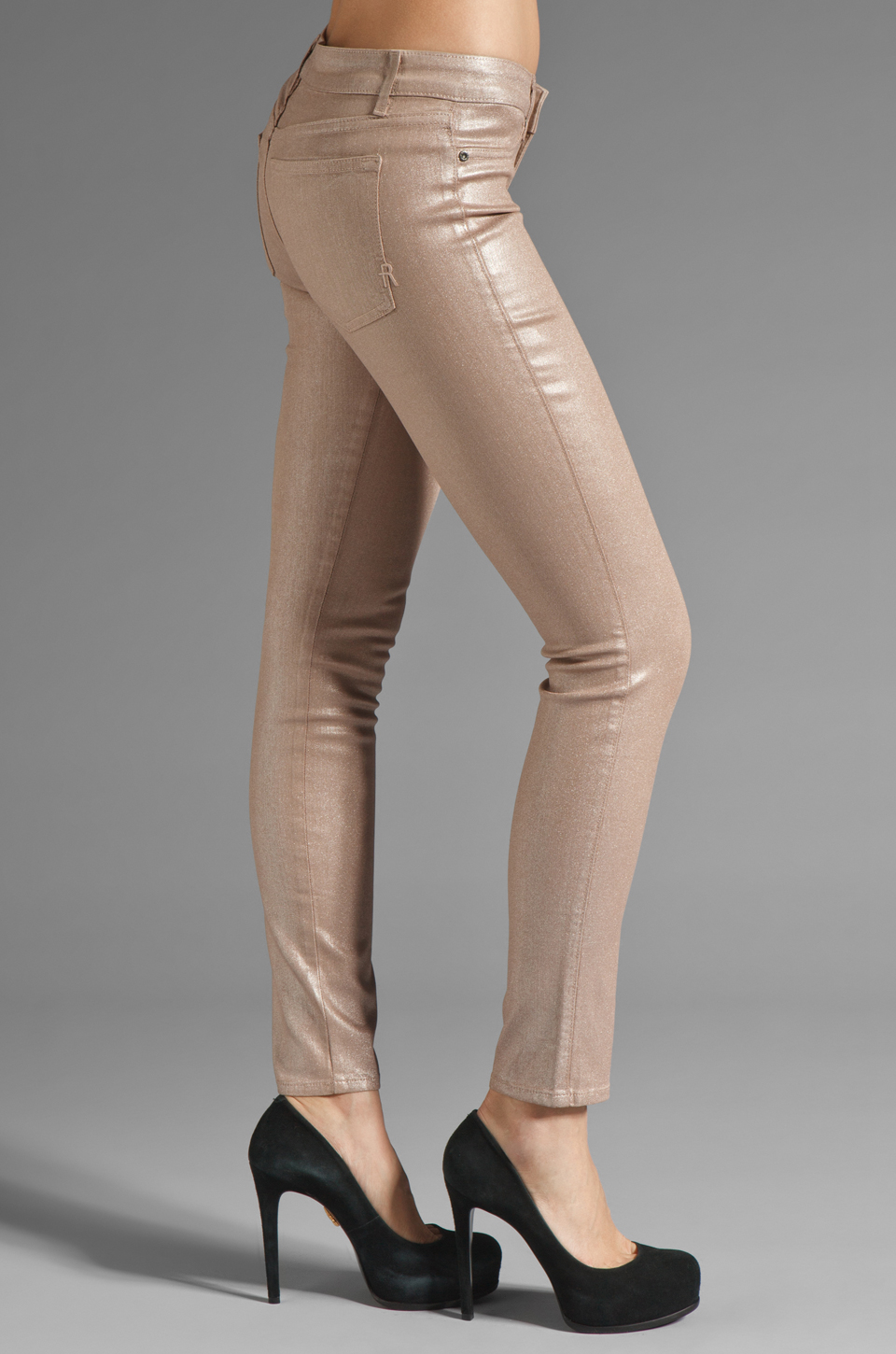 Rich & Skinny Legacy Sparkle Metallic Skinny in Barbie