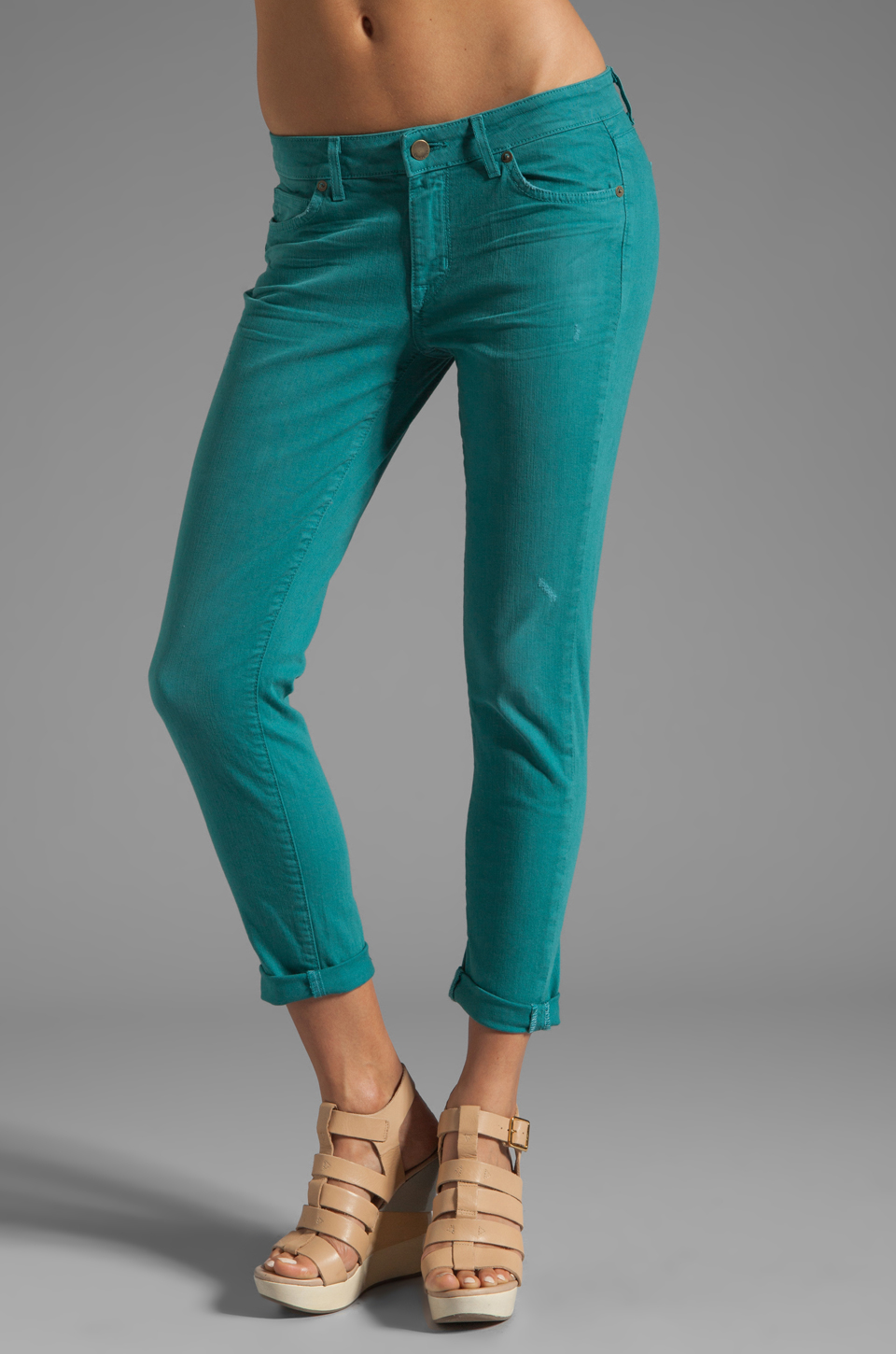 Rich & Skinny Relaxed Ankle Crop in Apollo