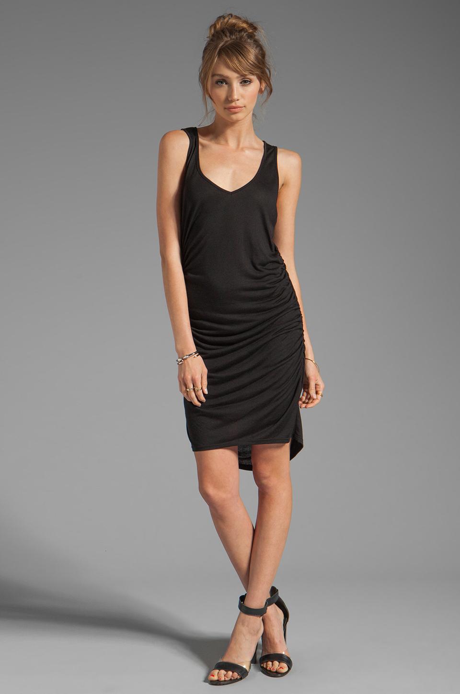 Riller & Fount Christina V-Neck Tunic Dress in Black