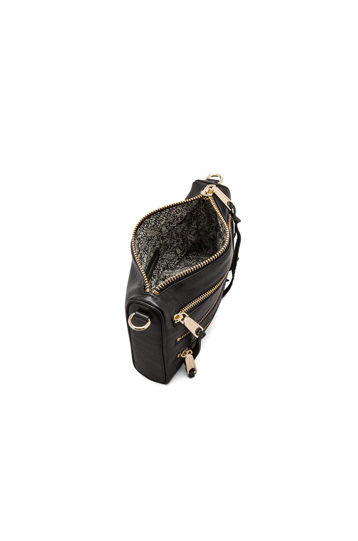 Rebecca Minkoff Mini 5 Zip Clutch in Black