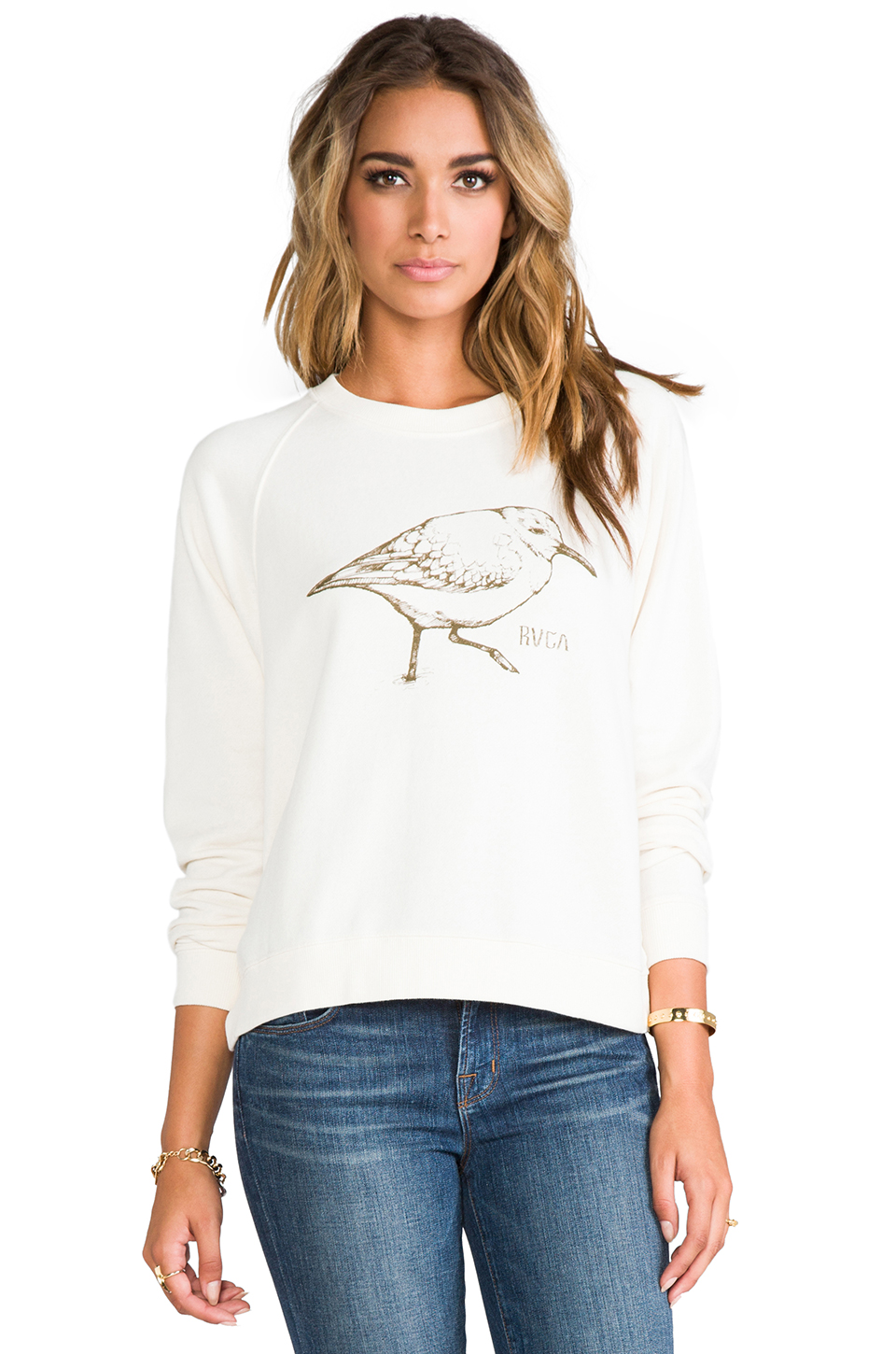 RVCA Sanderling Sweatshirt in Natural