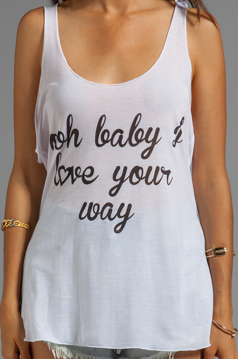 Sauce Ooh Baby Tank in White