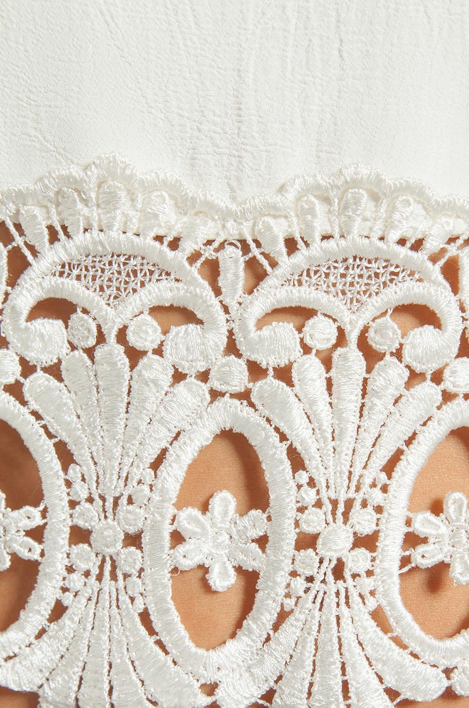 STONE_COLD_FOX Guerrilla Lace Crop Top in White