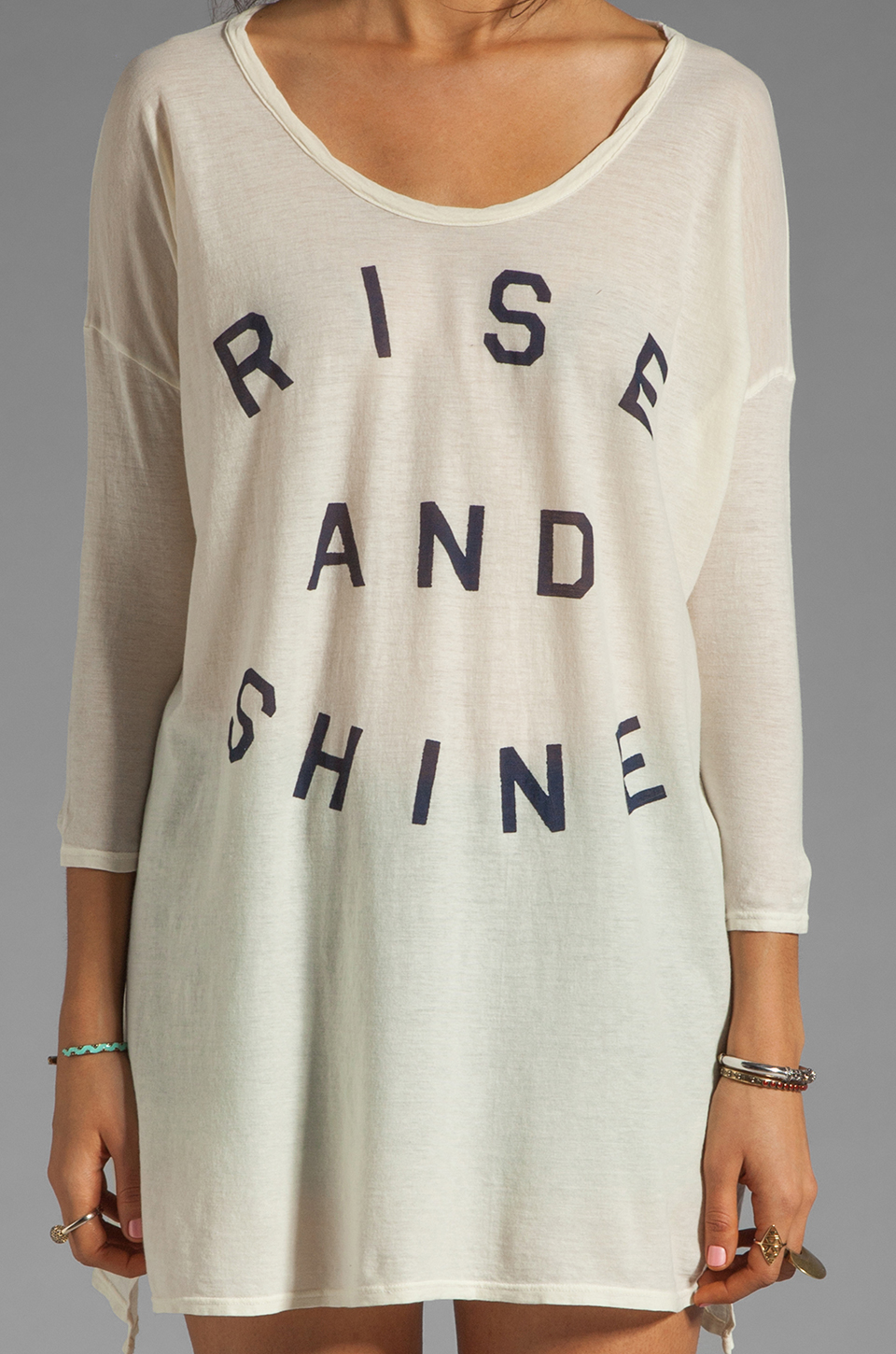 SUNDRY Rise and Shine Square Tunic in Sea Shell