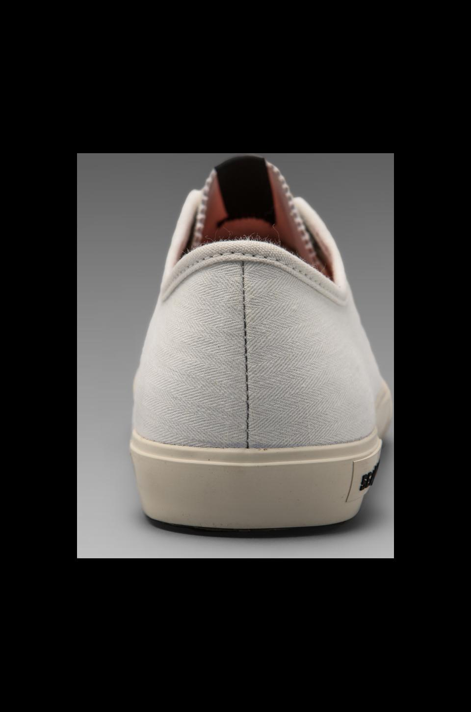 SeaVees x Todd Snyder Army Issue Low Top in Natural Herringbone