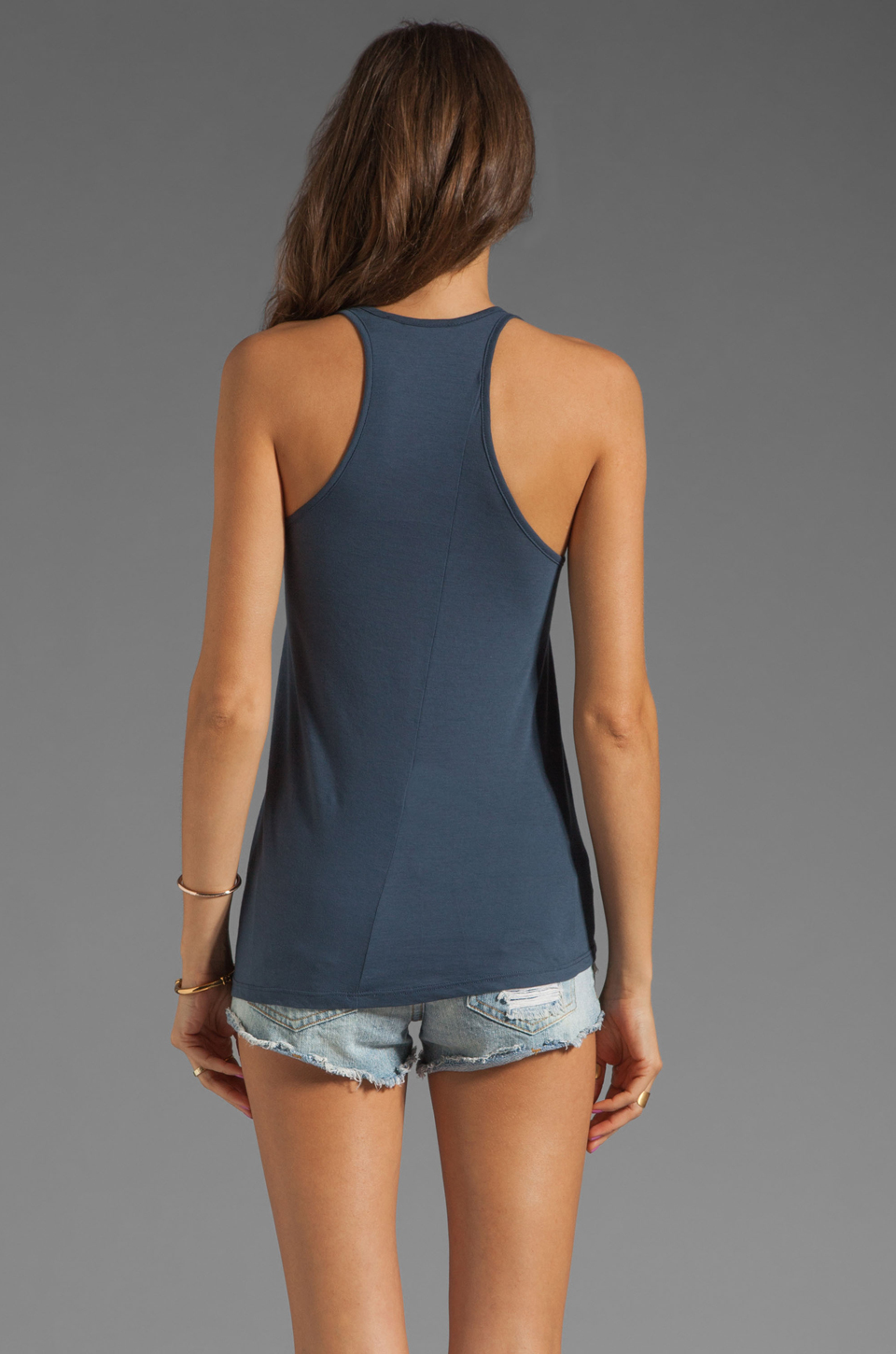 See By Chloe Miami Print Tank in Blue