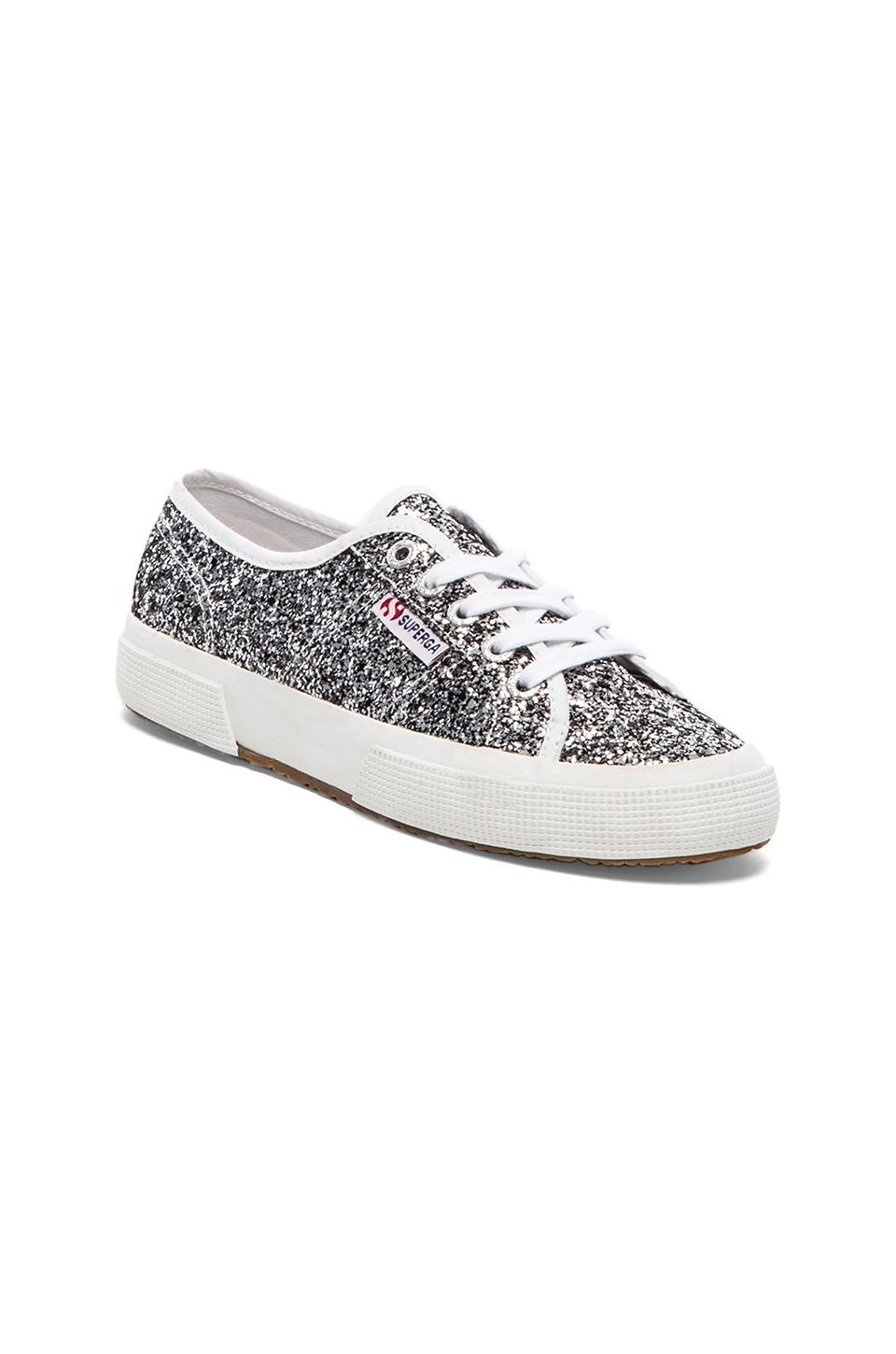 superga chunky glitter sneakers in silver revolve. Black Bedroom Furniture Sets. Home Design Ideas