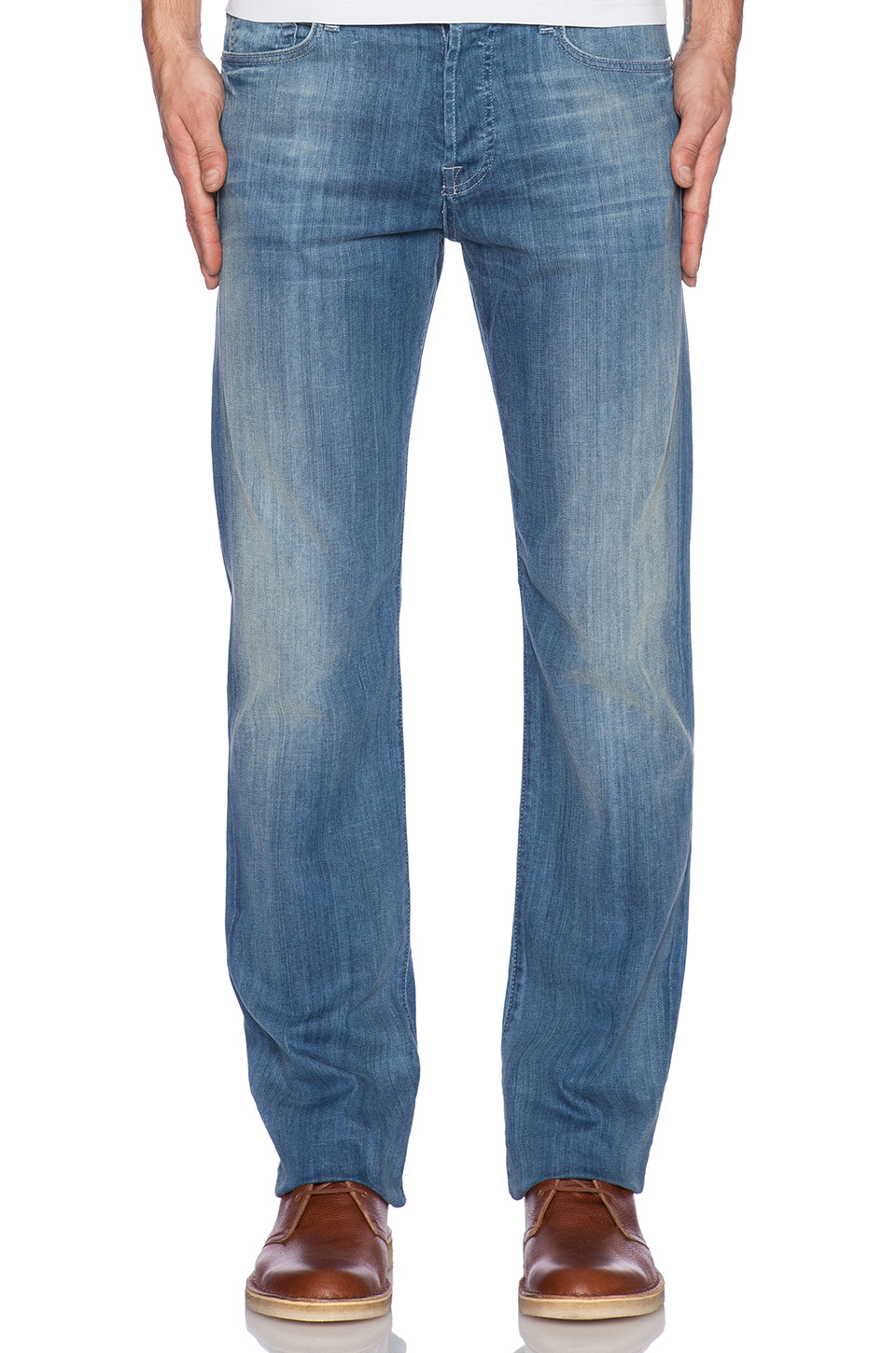 7 For All Mankind Standard in Washed Out